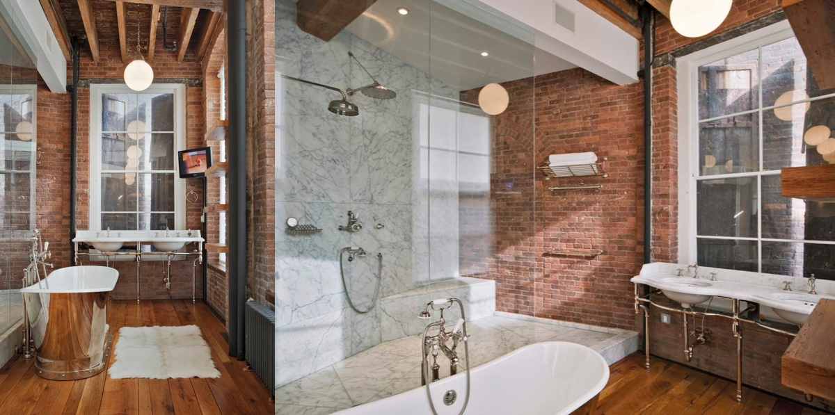 51 Industrial Style Bathrooms Plus Ideas & Accessories You Can Copy From Them images 29