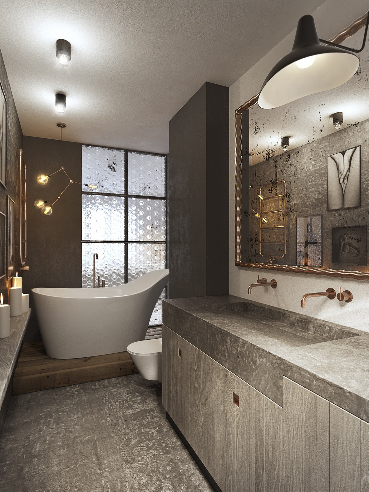 51 Industrial Style Bathrooms Plus Ideas & Accessories You Can Copy From Them images 30