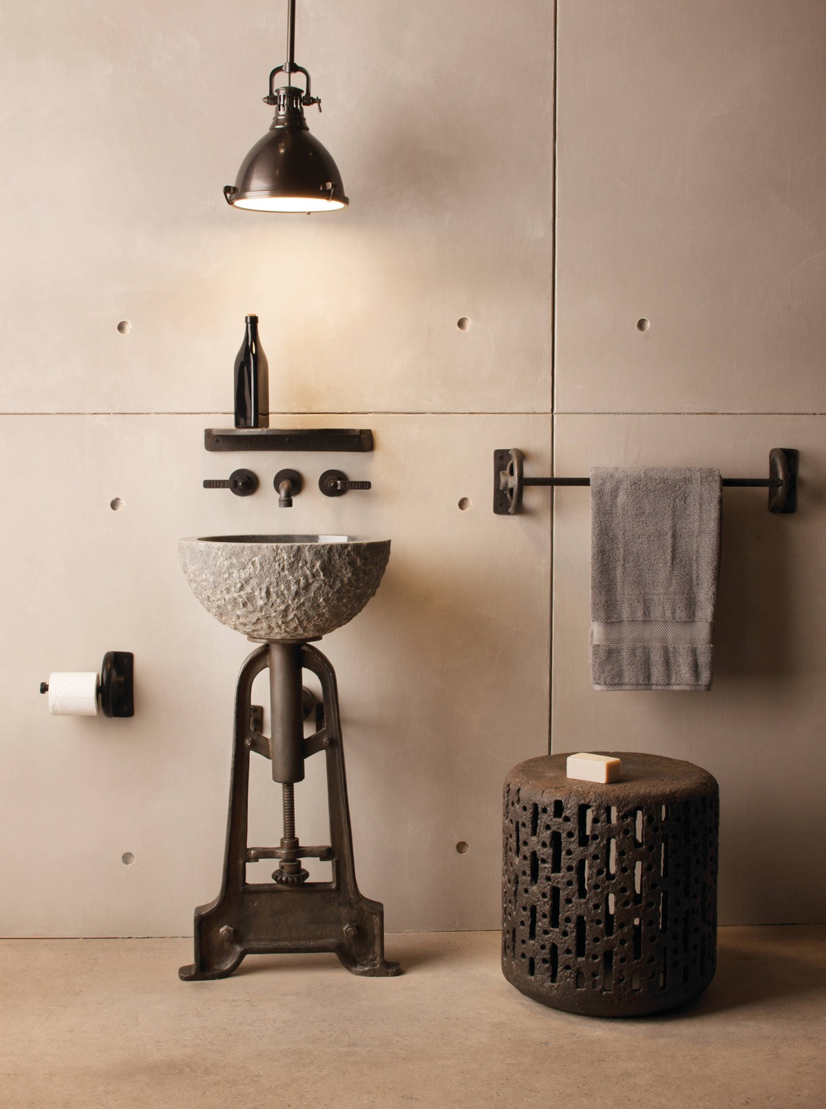 51 Industrial Style Bathrooms Plus Ideas & Accessories You Can Copy From Them images 7