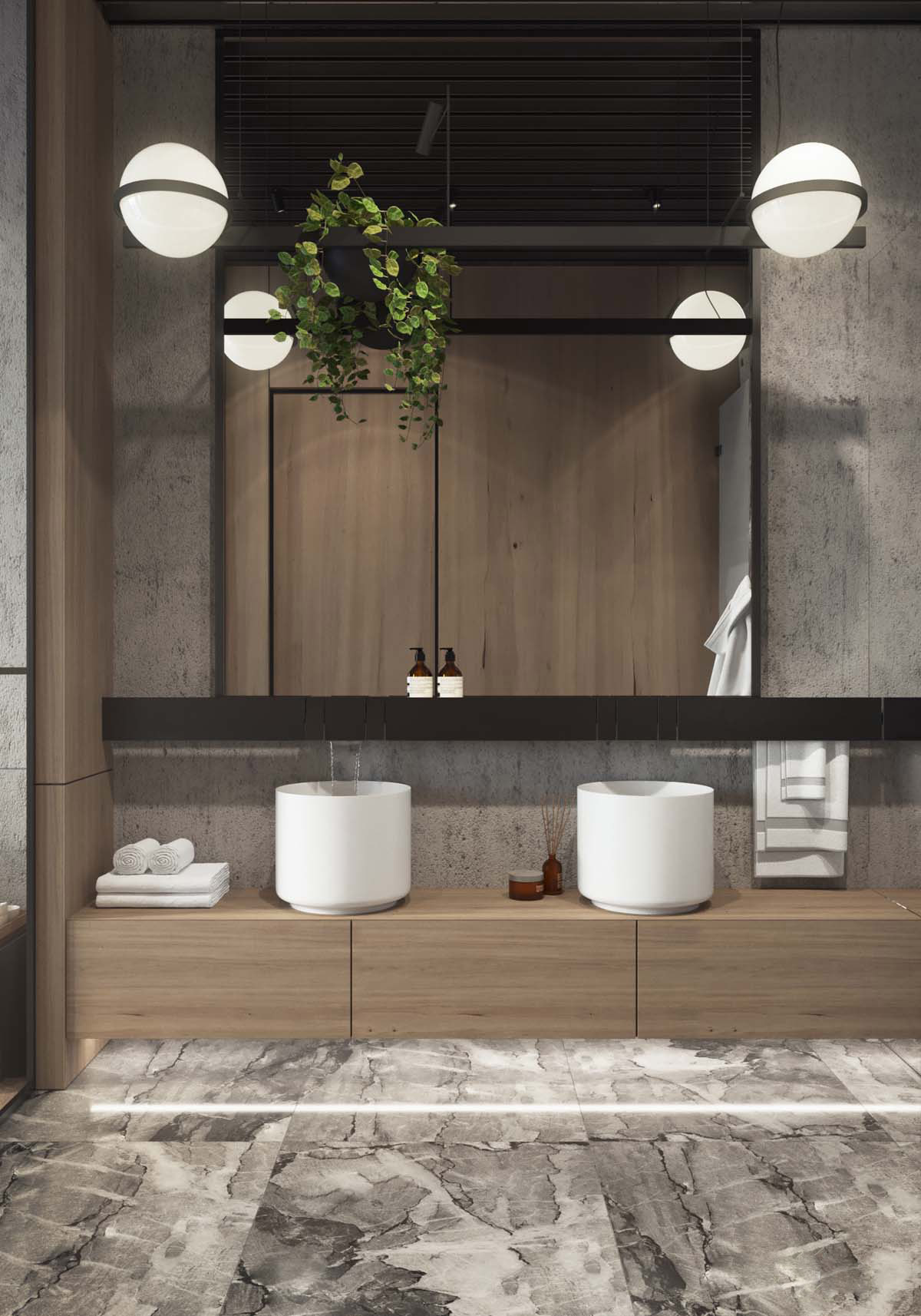 51 Industrial Style Bathrooms Plus Ideas & Accessories You Can Copy From Them images 14
