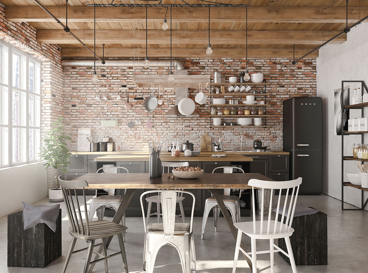 Four Types of Industrial Style Decor images 25