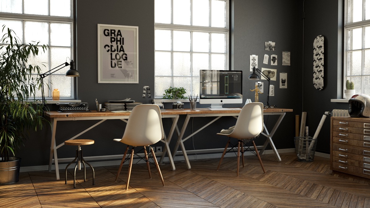 33 Inspiring Industrial Style Home Offices That Sport Beautiful Workspaces images 28