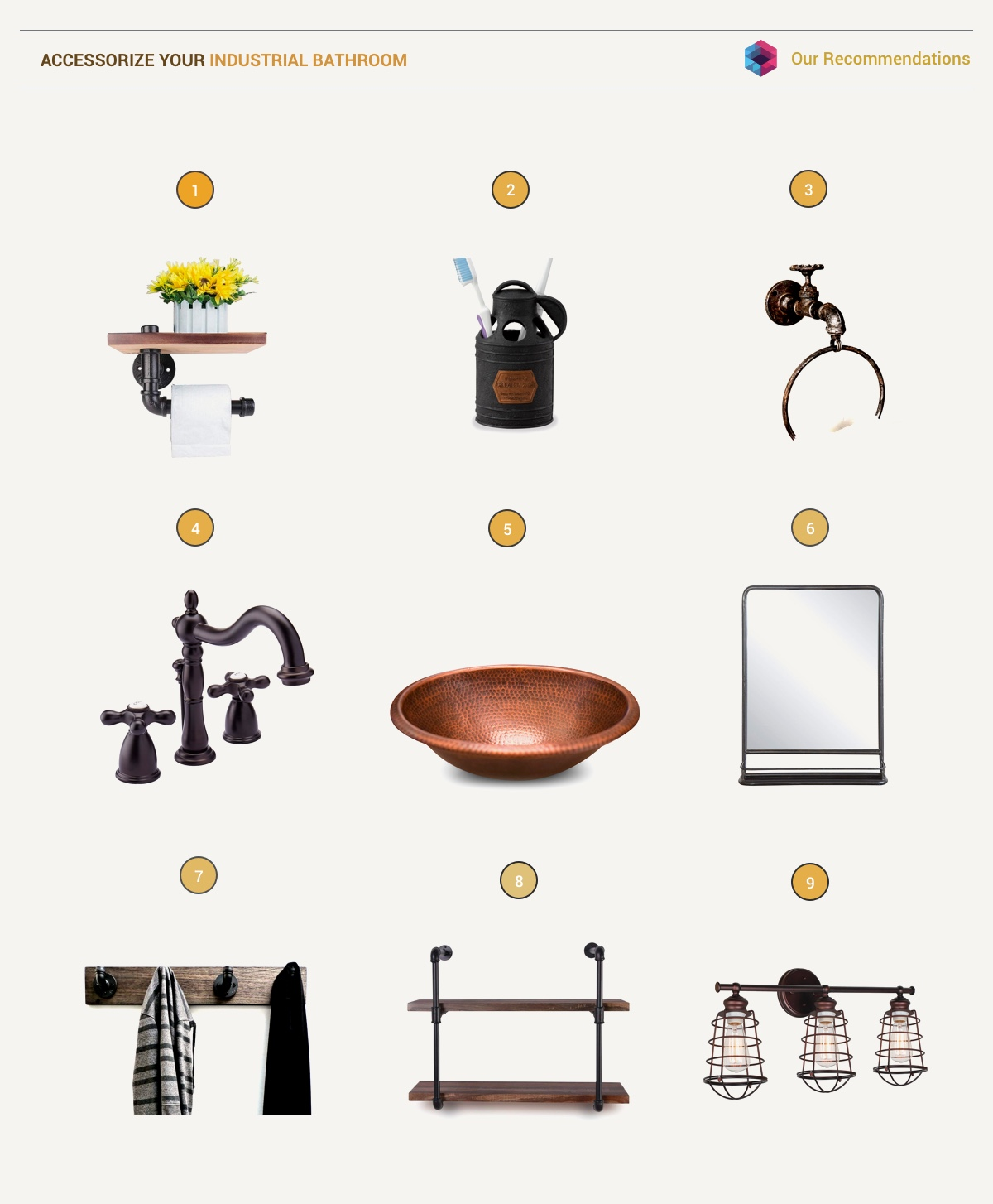 51 Industrial Style Bathrooms Plus Ideas & Accessories You Can Copy From Them images 50