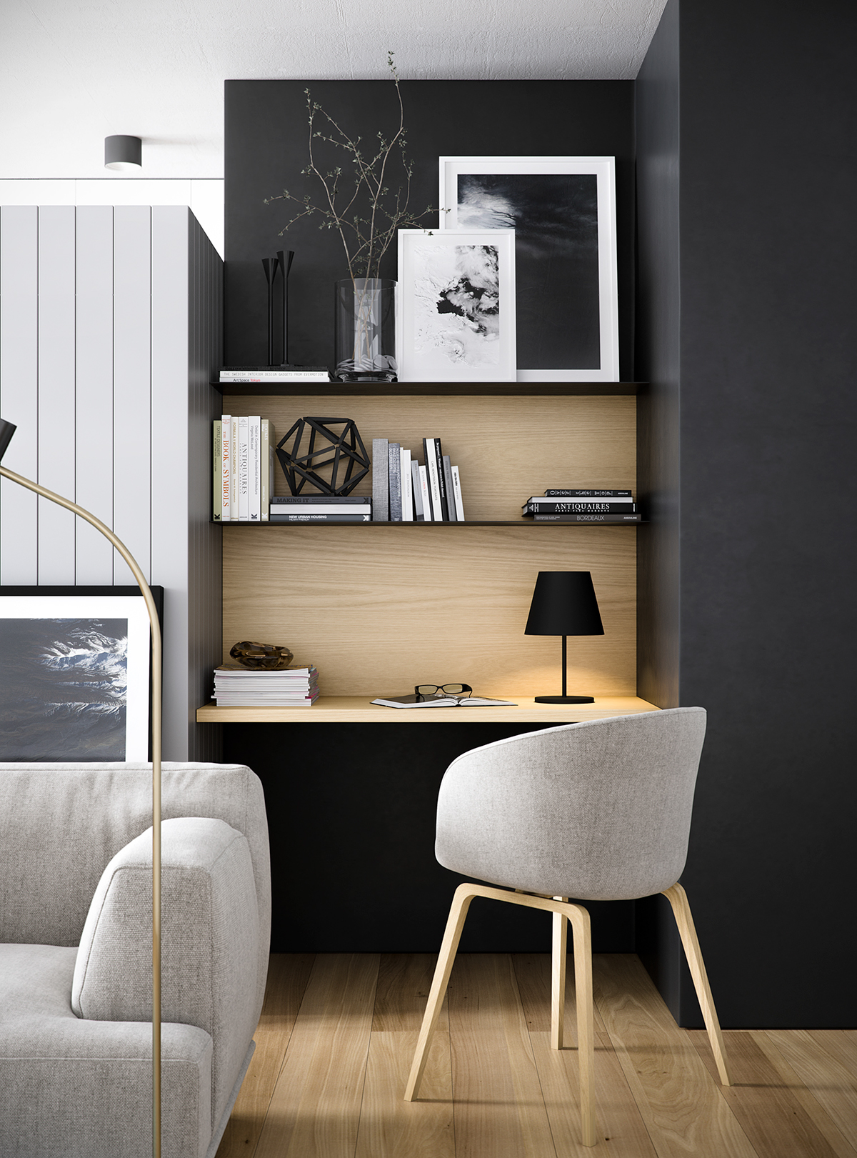 37 Minimalist Home Offices That Sport Simple But Stylish Workspaces images 3