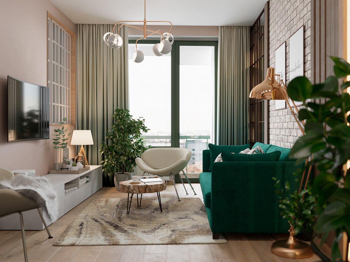 Scandinavian Style Interior Infused With Garden Greenery images 1