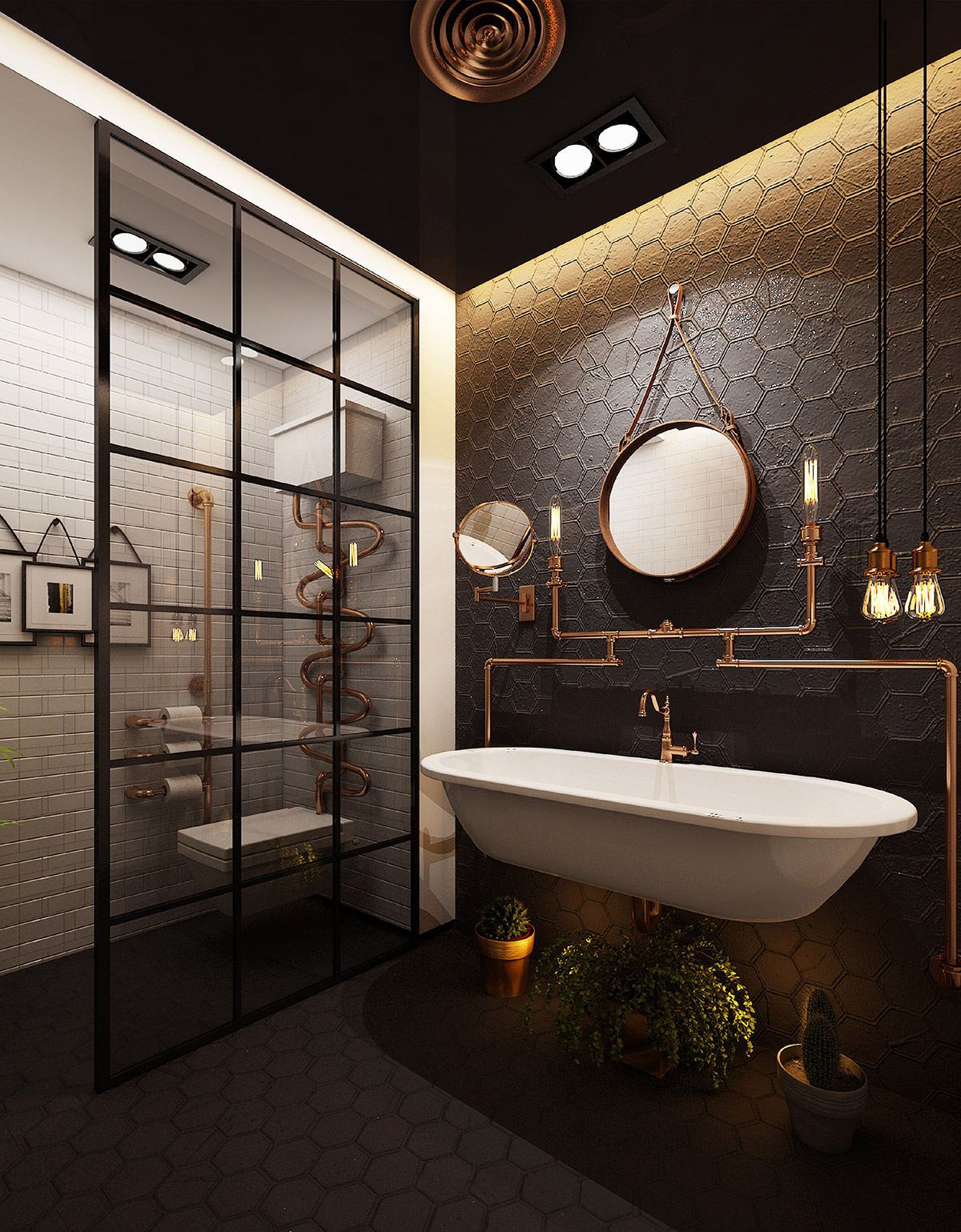 51 Industrial Style Bathrooms Plus Ideas & Accessories You Can Copy From Them images 32