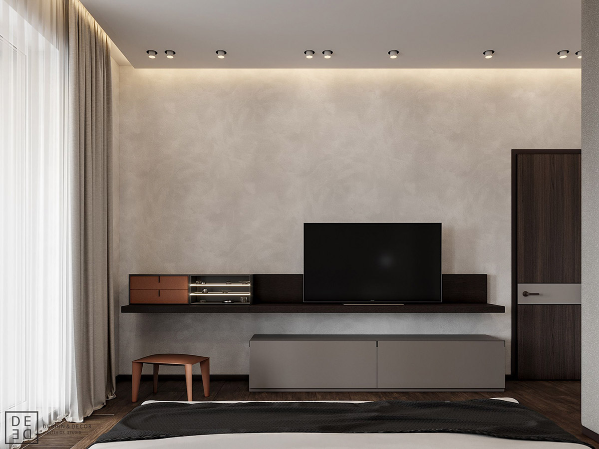 Luxurious Interior With Wood Slat Walls images 12