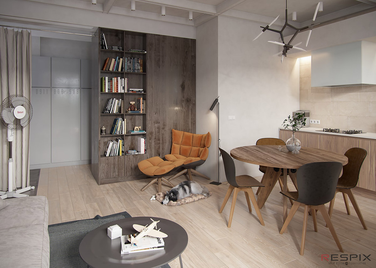 Modern And Youthful: 4 Small Apartments With Fierce Style images 8