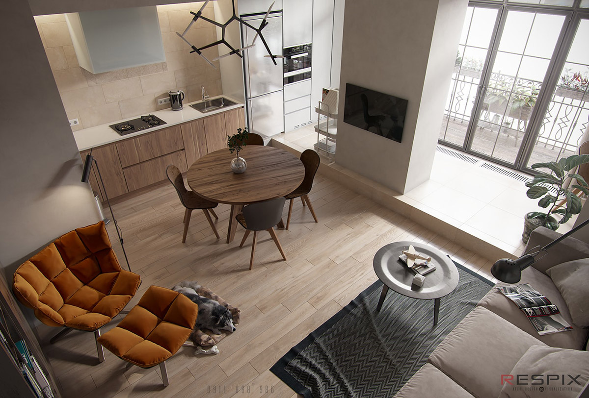Modern And Youthful: 4 Small Apartments With Fierce Style images 6