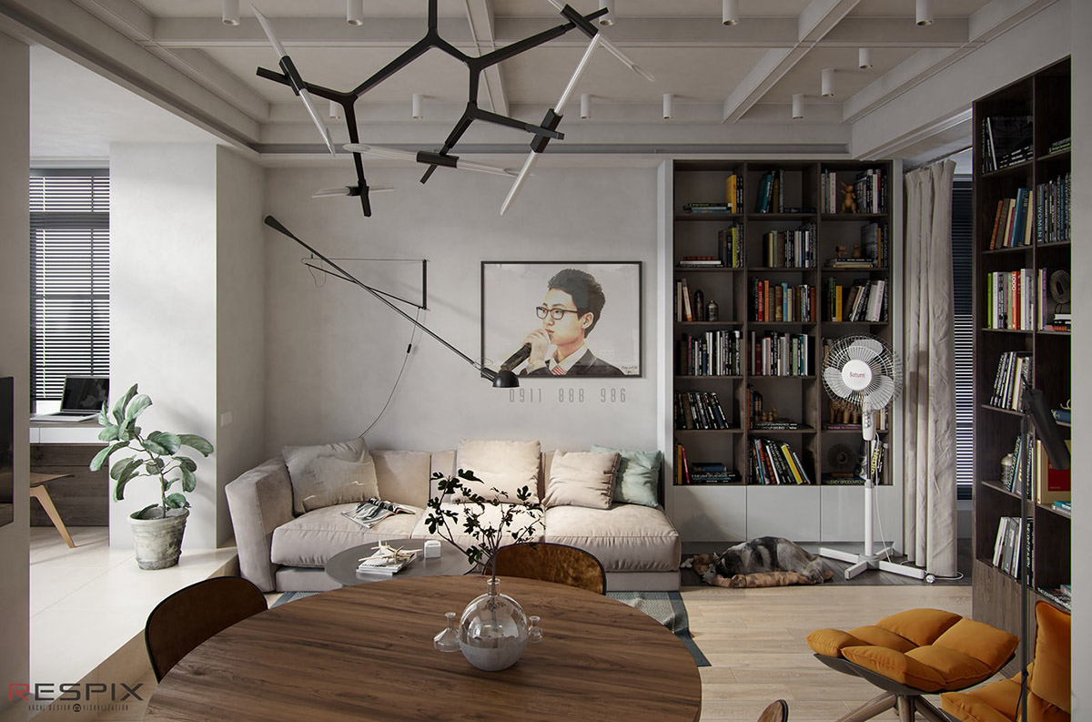 Modern And Youthful: 4 Small Apartments With Fierce Style images 4