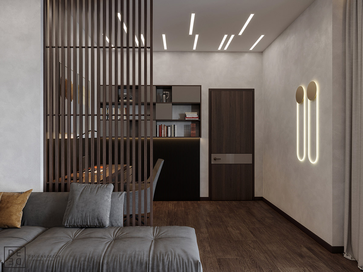 Luxurious Interior With Wood Slat Walls images 4