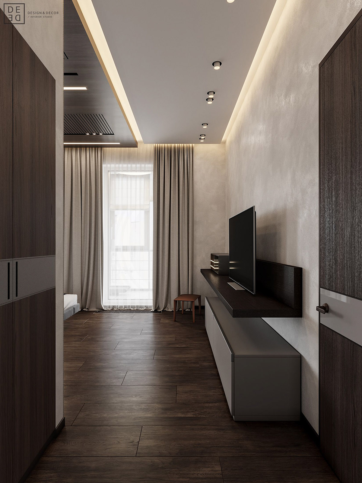Luxurious Interior With Wood Slat Walls images 13