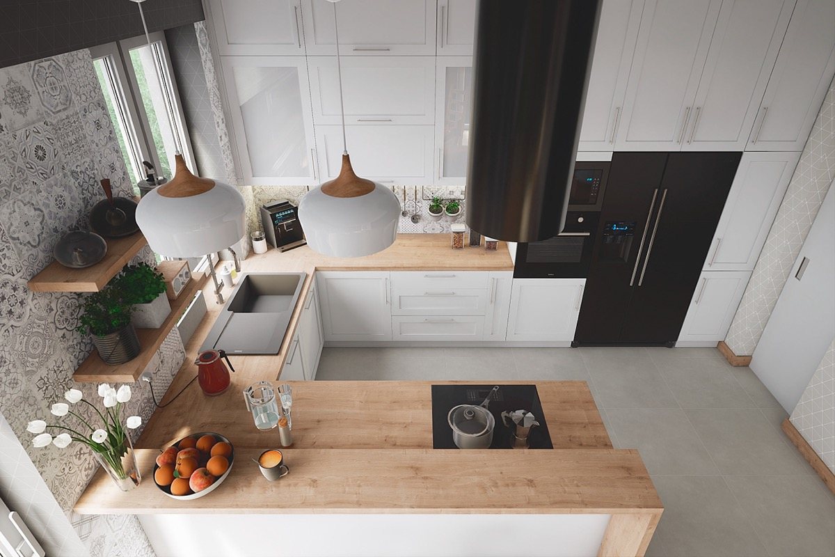 50 Unique U-Shaped Kitchens And Tips You Can Use From Them images 11
