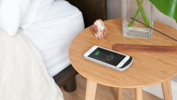 Product Of The Week: A Beautiful Bamboo Side Table With Integrated Wireless Phone Charger