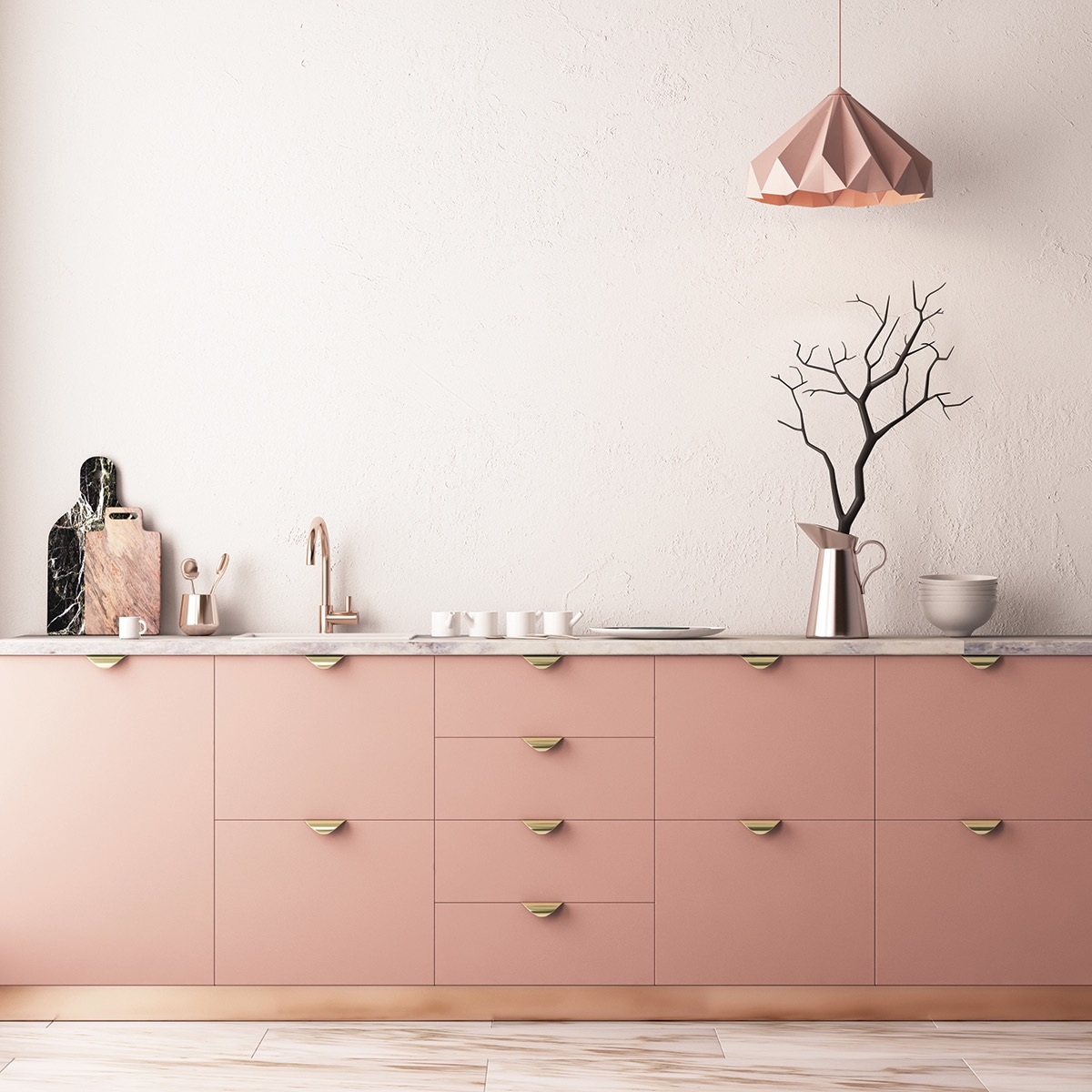 51 Inspirational Pink Kitchens With Tips & Accessories To Help You Design Yours images 16