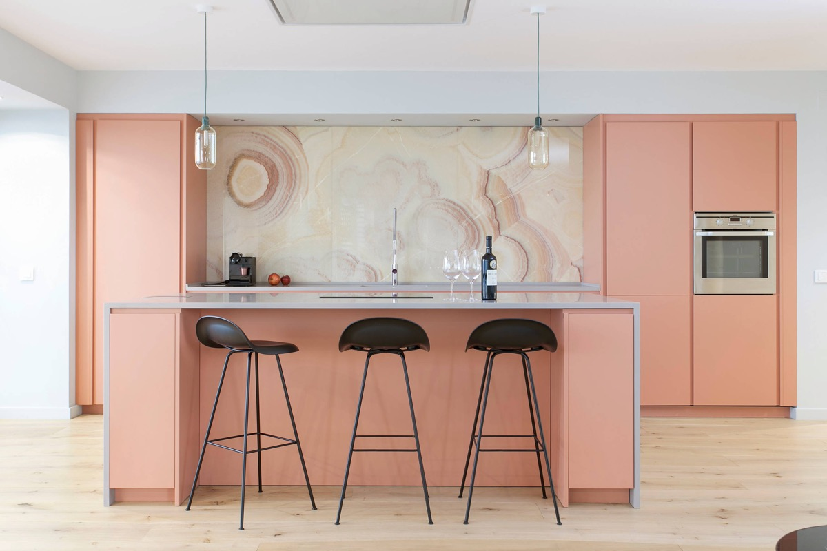51 Inspirational Pink Kitchens With Tips & Accessories To Help You Design Yours images 21