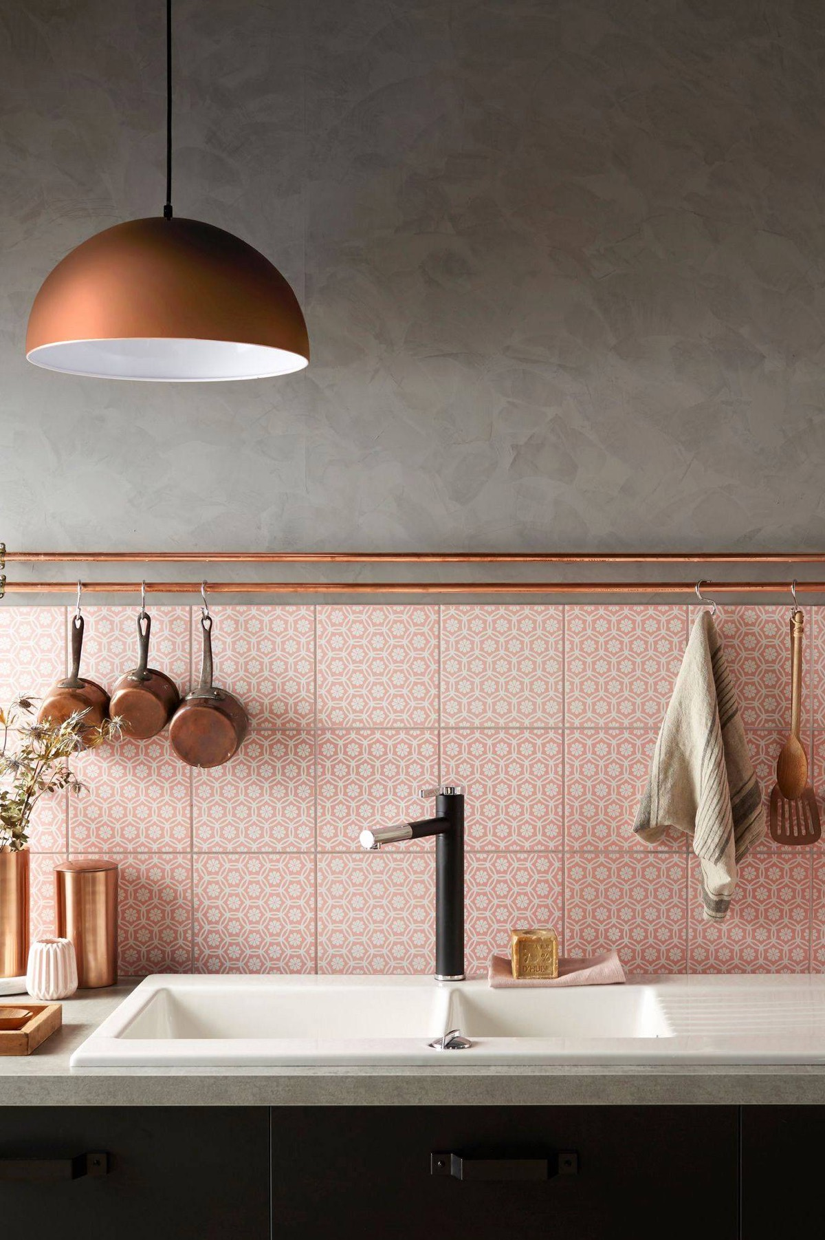 51 Inspirational Pink Kitchens With Tips & Accessories To Help You Design Yours images 28