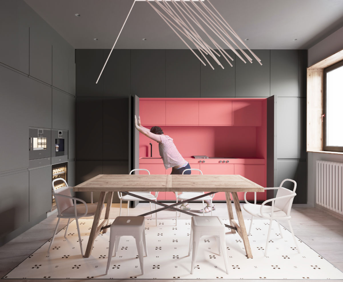 51 Inspirational Pink Kitchens With Tips & Accessories To Help You Design Yours images 25
