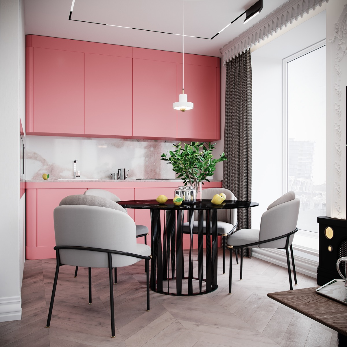 These 20 Stylish Kitchen Designs Will Inspire You To Redesign Yours: 51 Inspirational Pink Kitchens With Tips & Accessories To