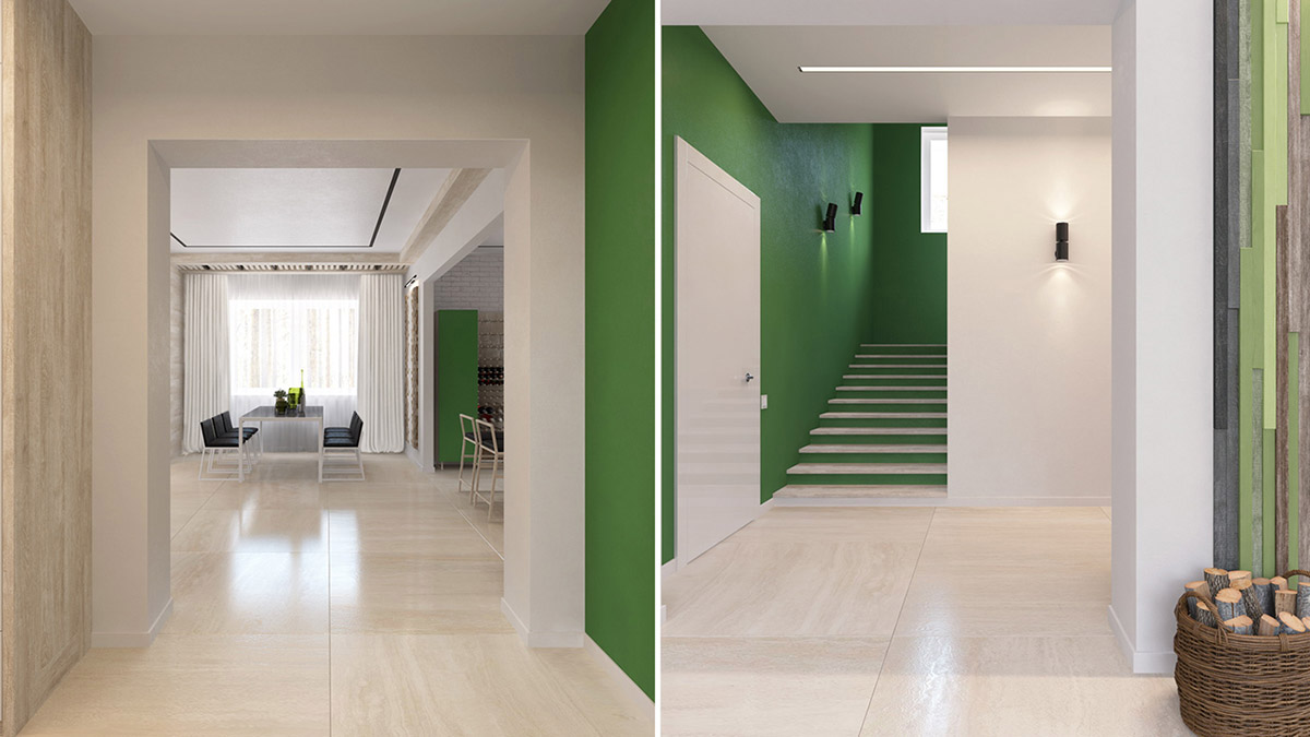 Green And Yellow Accent Interior In Moscow images 10