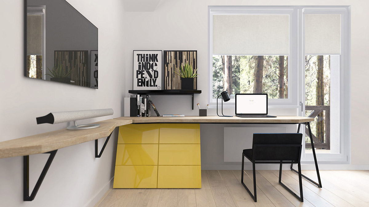 Green And Yellow Accent Interior In Moscow images 30