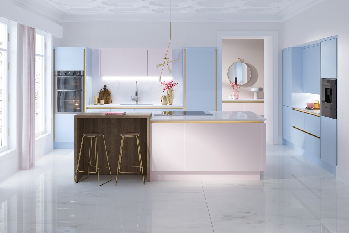 51 Inspirational Pink Kitchens With Tips & Accessories To Help You Design Yours images 46