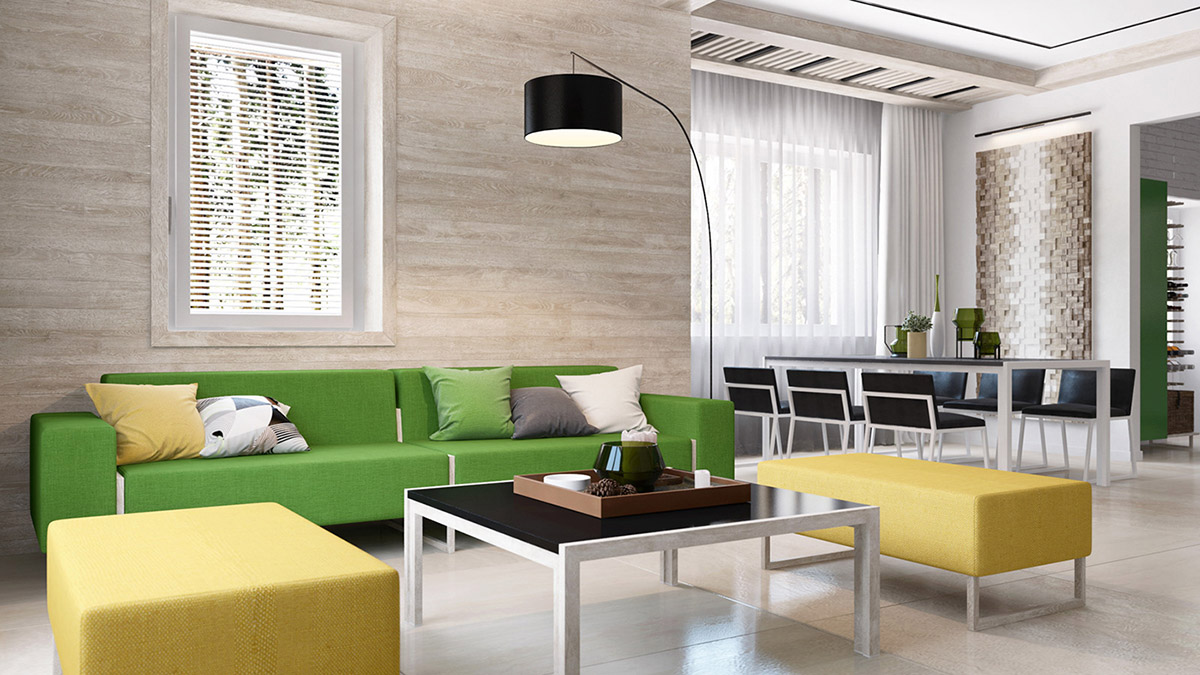 Green And Yellow Accent Interior In Moscow images 3