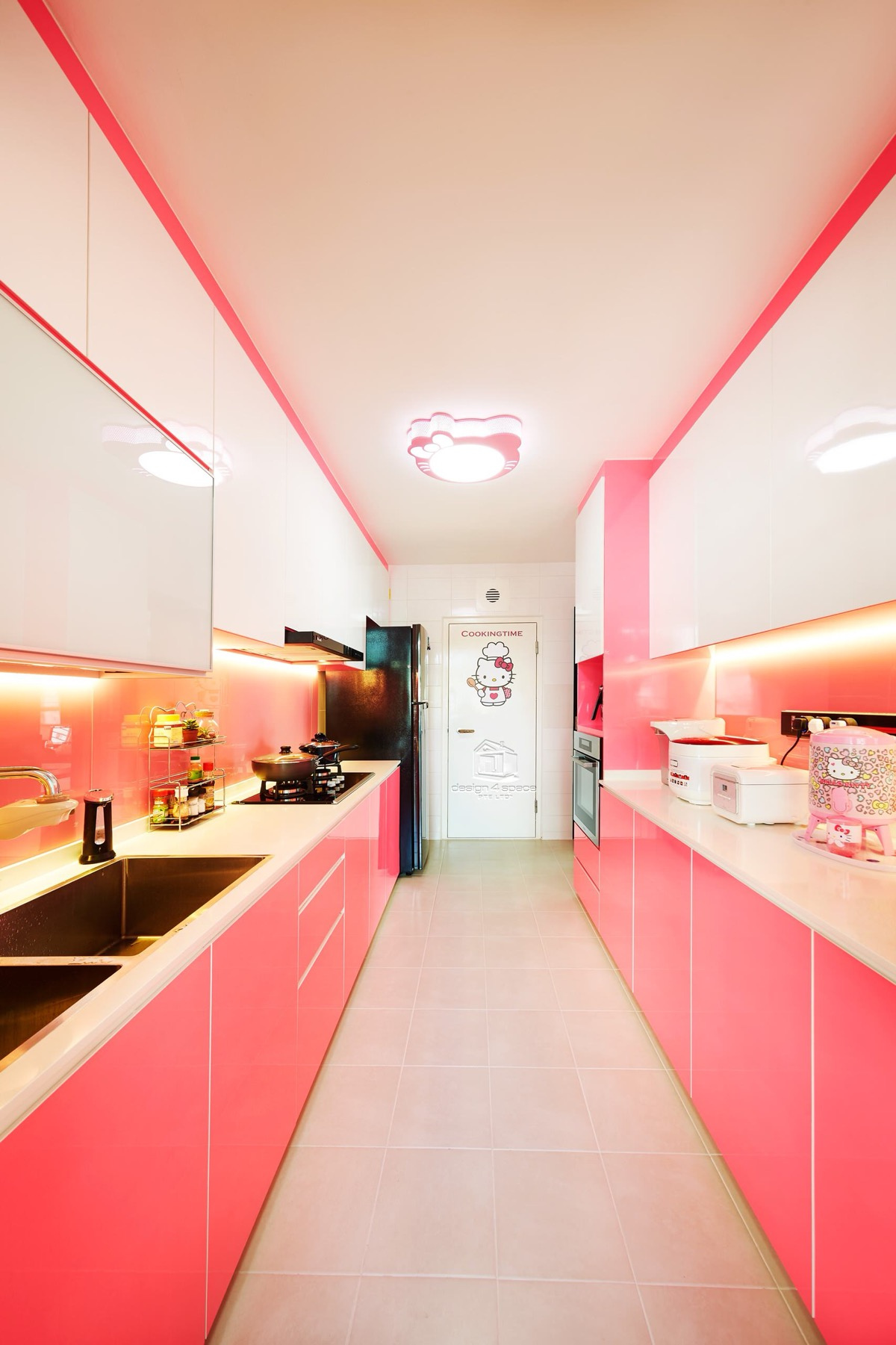 51 Inspirational Pink Kitchens With Tips & Accessories To Help You Design Yours images 41
