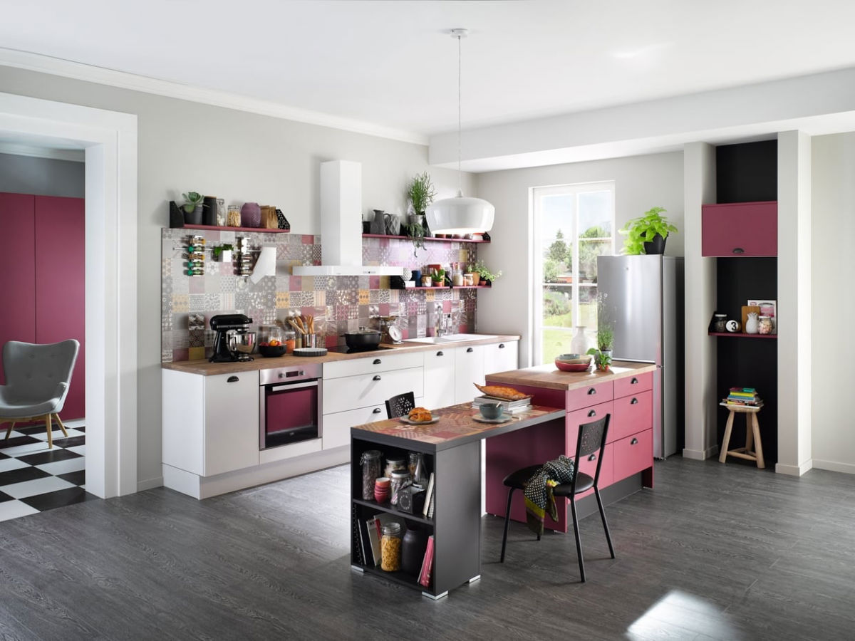 51 Inspirational Pink Kitchens With Tips & Accessories To Help You Design Yours images 38