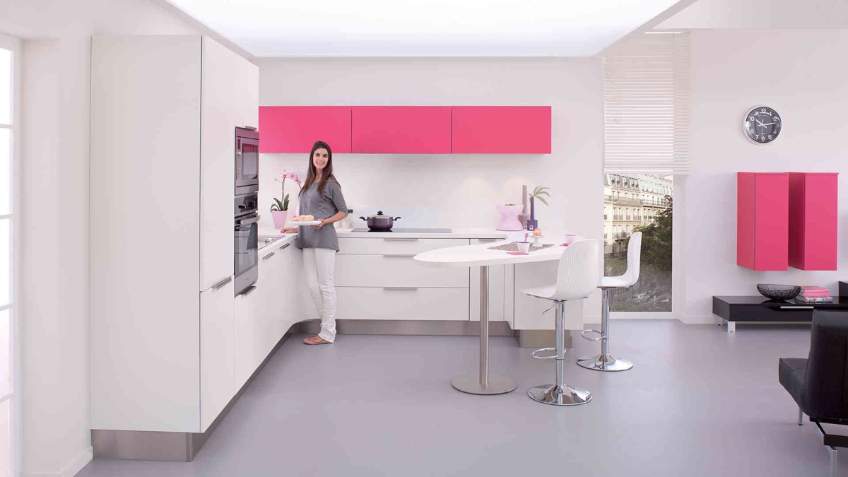 51 Inspirational Pink Kitchens With Tips & Accessories To Help You Design Yours images 37