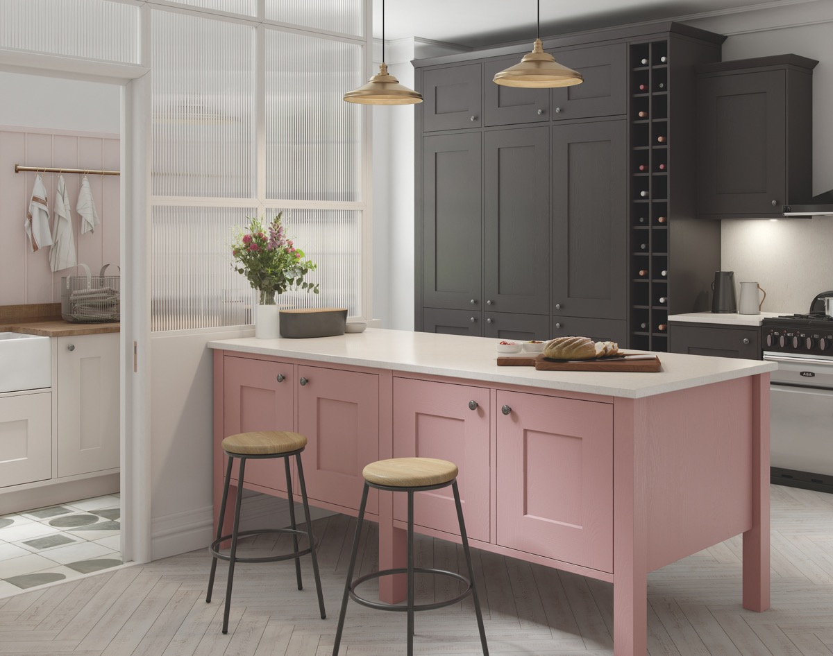 51 Inspirational Pink Kitchens With Tips & Accessories To Help You Design Yours images 20