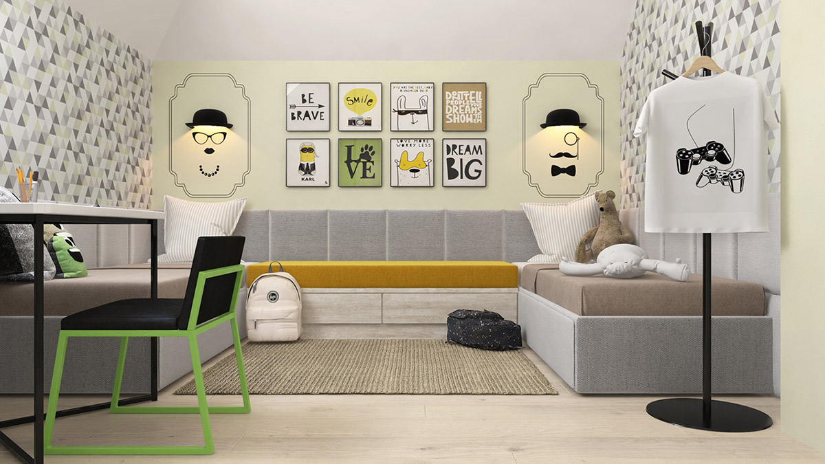 Green And Yellow Accent Interior In Moscow images 34