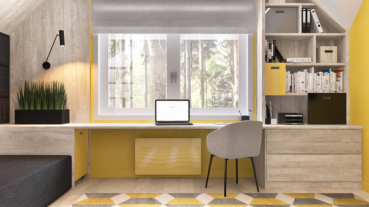 Green And Yellow Accent Interior In Moscow images 24