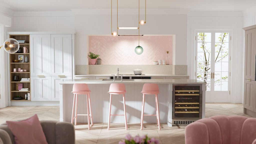 51 Inspirational Pink Kitchens With Tips U0026 Accessories To Help You Design  Yours