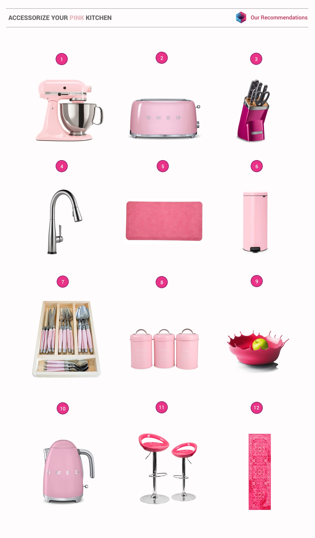 51 Inspirational Pink Kitchens With Tips & Accessories To Help You Design Yours images 49
