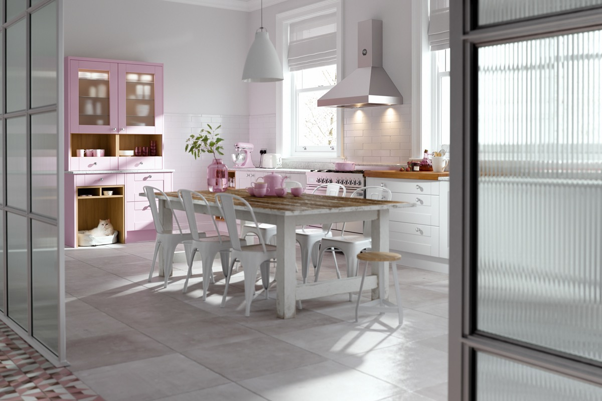 51 Inspirational Pink Kitchens With Tips & Accessories To Help You Design Yours images 48