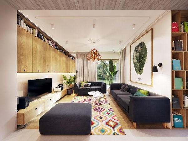 Garden Greens Add Personality to this Warm and Modern Apartment
