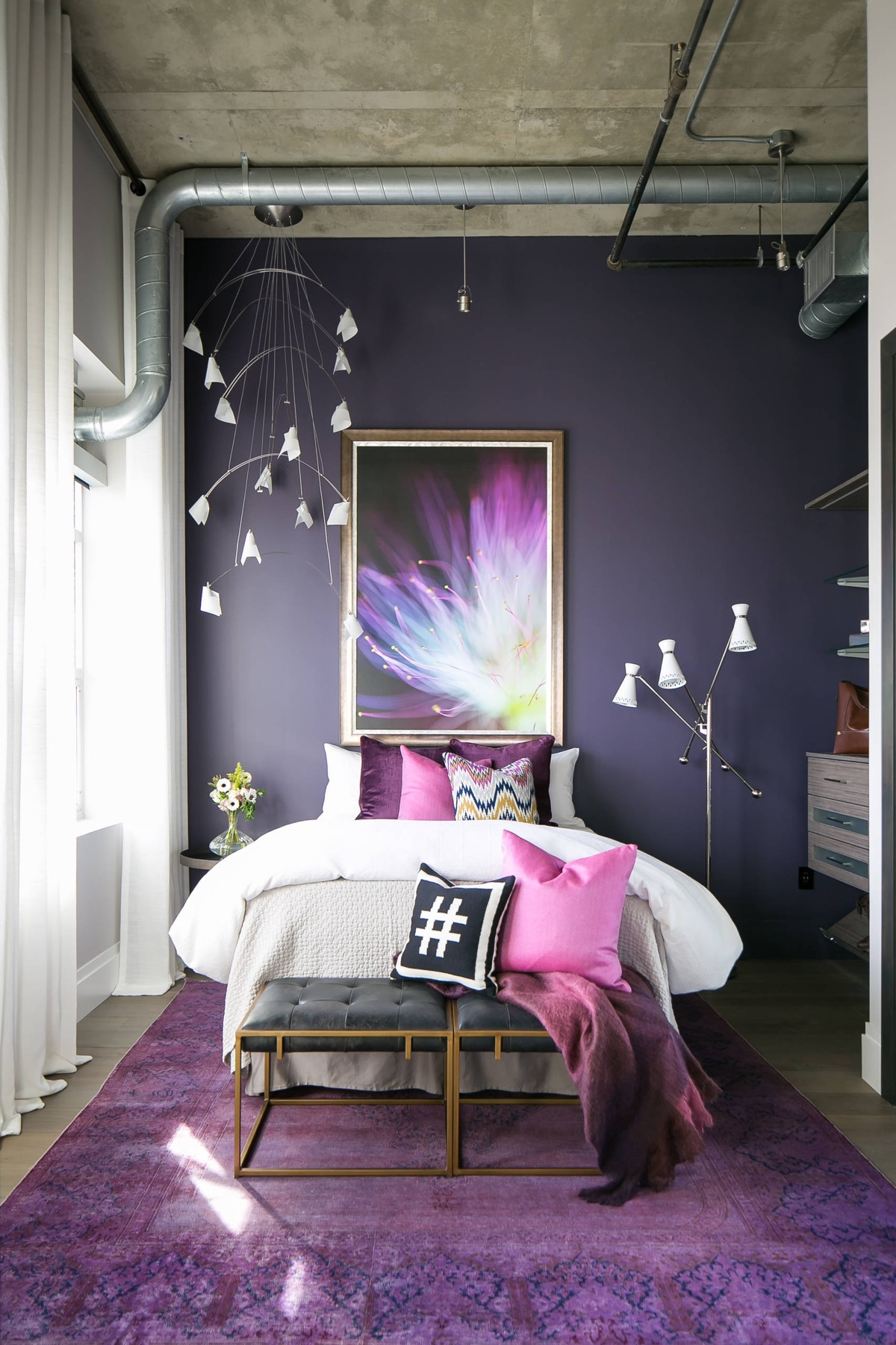 33 Purple Themed Bedrooms With Ideas