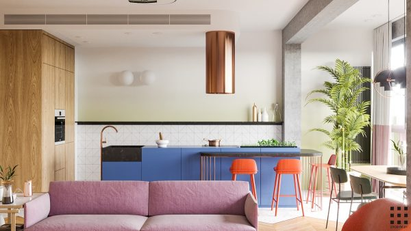 A Bright Colorful Home For A Couple And Two Children [Includes Floor Plan]