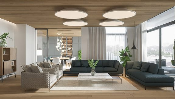 A Light & Bright Modern Apartment with Wood Accents