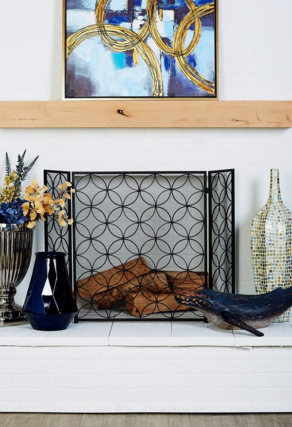 51 decorative fireplace screens to instantly update your fireplace rh home designing com cheap diy fireplace screen discount fireplace screens
