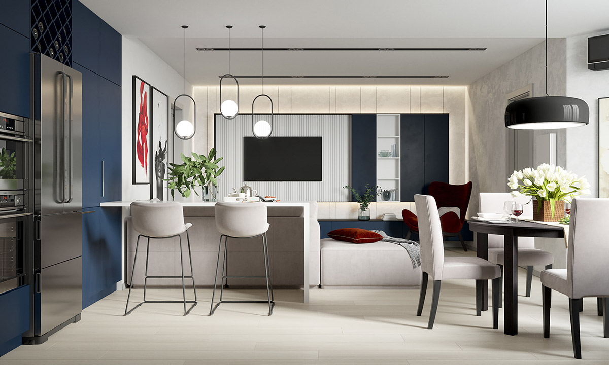 Modern Interior That Doen T Shy Away From Colour Home
