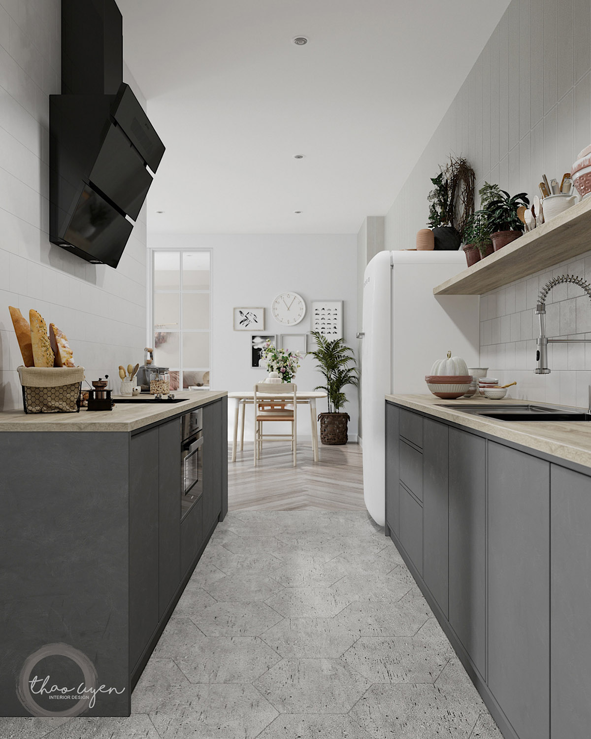 Gray Galley Kitchen: 3 Homes That Show Off The Beauty In Simplicity Of Modern Scandinavian Design