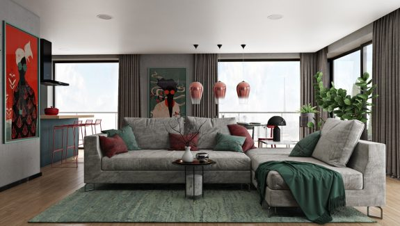 Merveilleux 2 Cool Home Interiors With Art That Pops On Concrete. Scandinavian Style  Home With A Greek Twist
