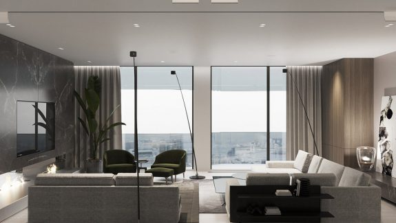 Luxury Modern Interior With Unified Wood Clad Decor