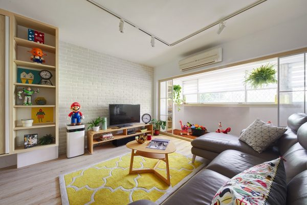 Gorgeous Colorful Remodels Of Two Taiwanese Houses Under 100 Square Meters