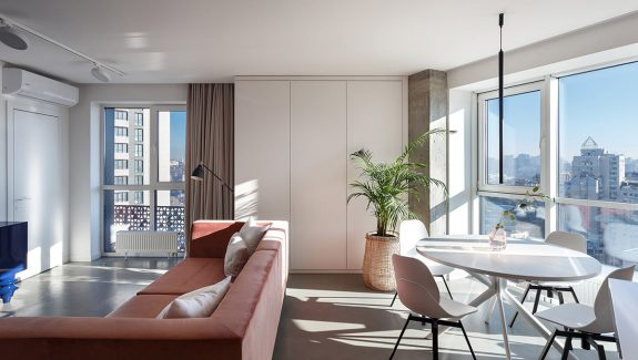 A Sunny Apartment Design That Morning People Will Love