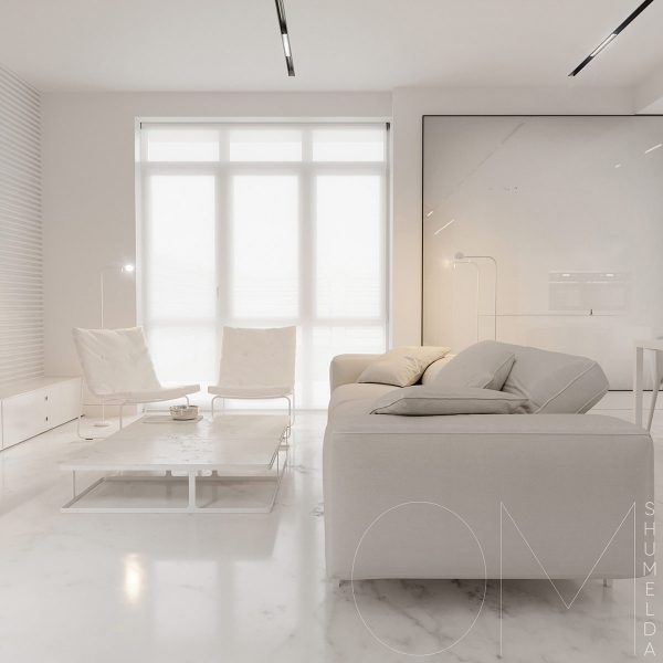 2 Minimalist Style White Interiors To Put The Mind At Peace