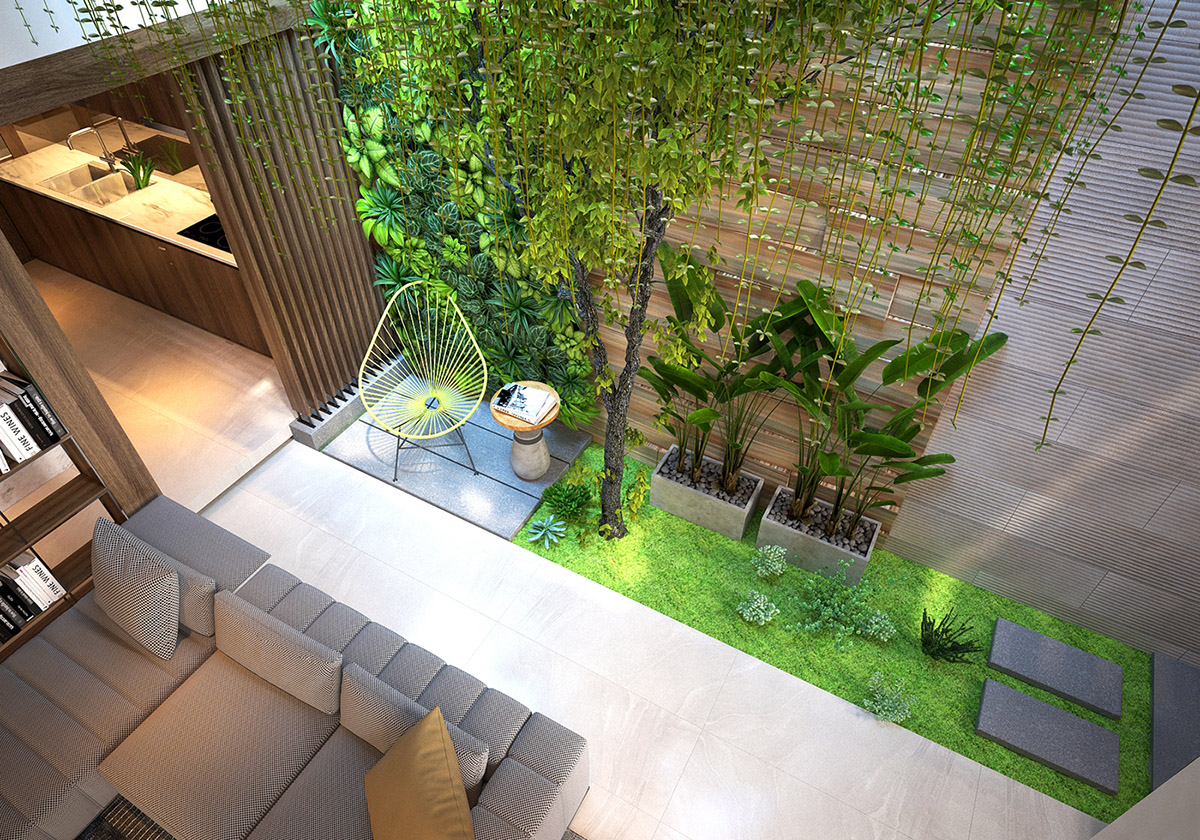 3 Homes That Feature Green Spaces Inside, With Courtyards & Terrariums