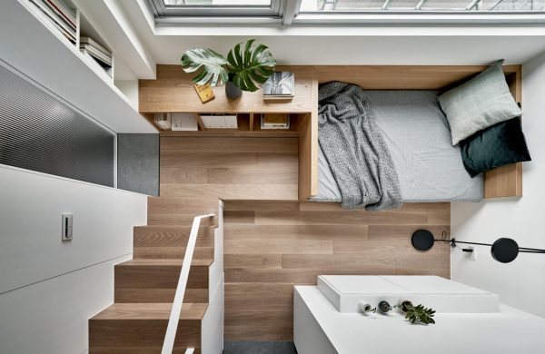 Piano Studio Changes Its Tune To A 17.6 sqm Micro Flat In Taiwan